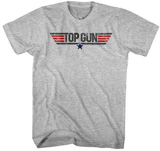 Top Gun American Classics Men's Tee Shirts GRAY Gray Heather & Red Logo Tee - Men