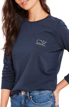 Vineyard Vines Halloween Whale Long Sleeve Graphic Tee