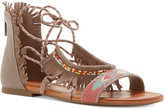 Jessica Simpson Kyndalle Beaded Lace-Up Flat Sandals Women's Shoes
