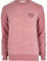 River Island Mens Pink casual statement sweatshirt