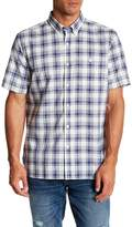 Jack Spade Check Short Sleeve Trim Fit Dress Shirt
