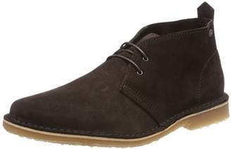 Jack and Jones Men's JFWGOBI Suede Desert Boot Ebony Grey