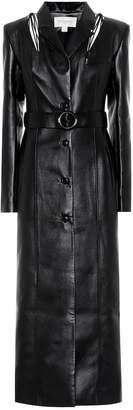 Matériel Tbilisi Belted faux leather coat