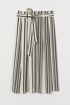 H&M Tie Belt Skirt - Beige
