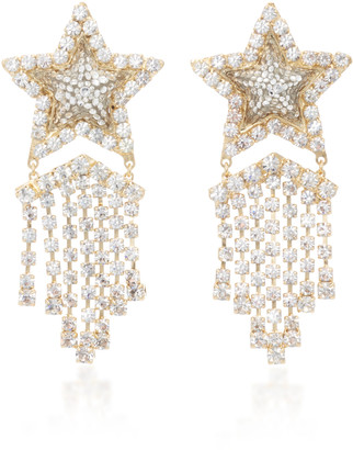 Shourouk Lucky Star Gold-Tone, Crystal And Pearl Earrings