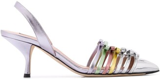 Marco De Vincenzo Bow Metallic Pumps
