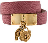 Dolce & Gabbana Leather Wrap Bracelet