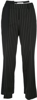 Monse Two-Tone Pinstripe Cropped Trousers