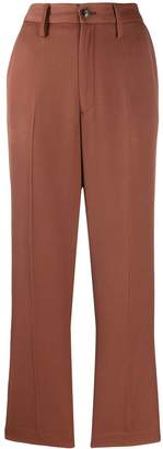 Closed creased straight leg trousers