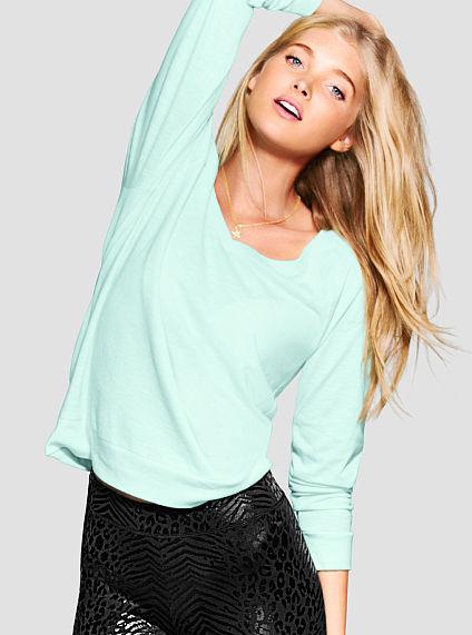 Victoria's Secret PINK Long Sleeve V-Neck Raglan Tee