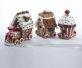 "Kurt Adler 5.5"" Gingerbread Kisses Lighted Candy Train Cart Christmas Table Top Decoration"