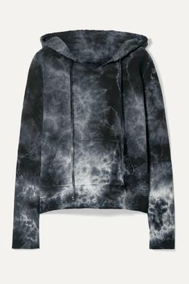 Nili Lotan Janie Tye-dyed Cotton-jersey Hoodie - Gray