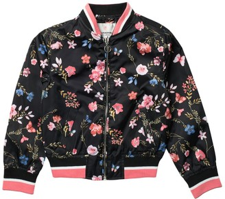 Urban Republic Floral Sateen Bomber Jacket (Big Girls)