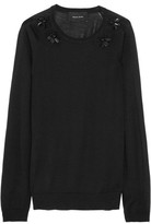 Simone Rocha Embellished Wool, Silk And Cashmere-Blend Sweater