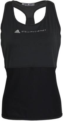 adidas by Stella McCartney Mesh-paneled Printed Stretch Tank