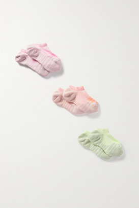 Nike Everyday Max Cushion Set Of Three Dri-fit Socks - Pink
