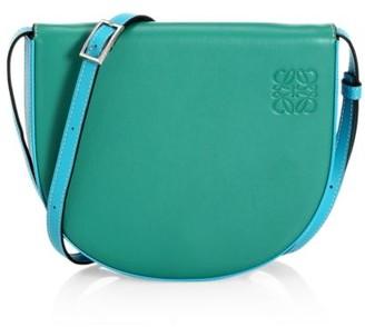 Loewe Heel Leather Saddle Bag