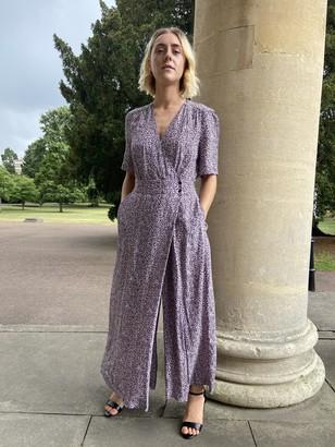 Somerset by Alice Temperley Cheetah Print Jumpsuit, Purple