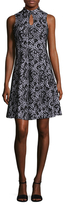 Donna Ricco Embroidered Fit And Flare Dress