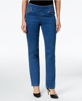Style&Co. Style & Co. Pull-On Tippler Wash Straight-Leg Jeans, Only at Macy's