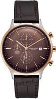 Kenneth Cole New York Men's Dark Brown Leather Strap Watch 42mm