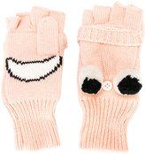 Stella McCartney happy face fingerless gloves