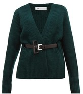 Toga Belted Ribbed-knit Wool Cardigan - Womens - Green