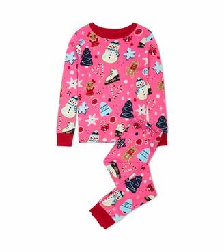 Hatley Girl's Organic Cotton Long Sleeve Printed Pyjama Sets Pajama