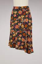 Vanessa Bruno Silk Hernin Skirt