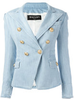 Balmain denim blazer - women - Cotton/Spandex/Elastane/Viscose - 34