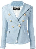 Balmain denim blazer - women - Cotton/Spandex/Elastane/Viscose - 38