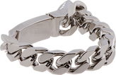 Givenchy Silver Sharktooth Id Chain Bracelet