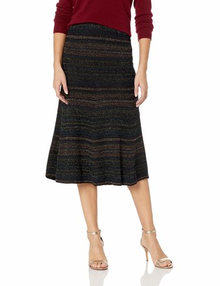 BCBGMAXAZRIA Women's Striped Line Skirt