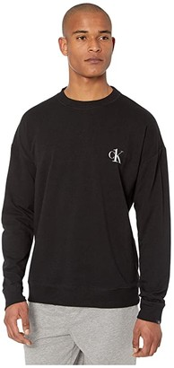 Calvin Klein Underwear CK One Basic Lounge Long Sleeve Crew Neck (Black) Men's Pajama