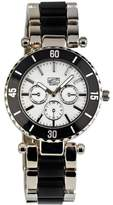 Eton Unisex Quartz Watch with White Dial Analogue Display and Black Bracelet 2937J-BK