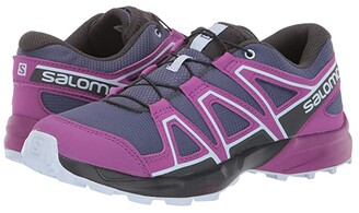 Salomon Speedcross (Little Kid/Big Kid) (Crown Blue/Sparkling Grape/Phantom) Girls Shoes