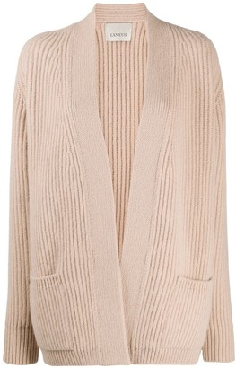 Laneus Ribbed Wool Cardigan