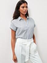 Banana Republic Cotton Gauze Roll-Cuff Shirt