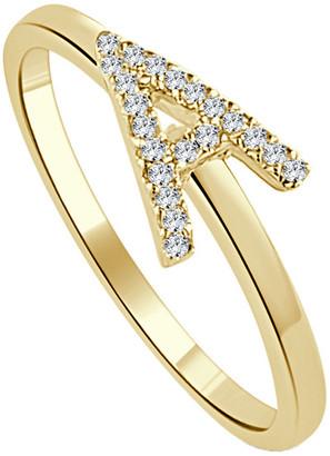 Sabrina Designs 14K 0.10 Ct. Tw. Diamond Initial Ring