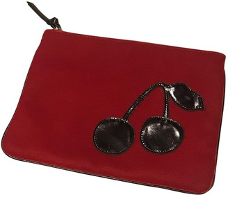 Sonia Rykiel Red Velvet Clutch bags