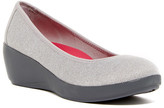 Crocs Busy Day Heathered Ballet Wedge Pump