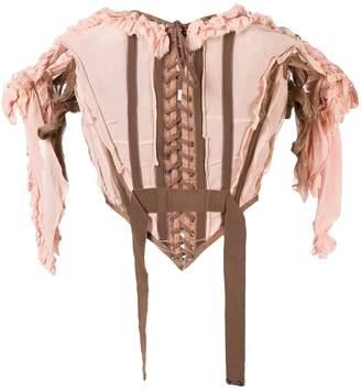 Jean Paul Gaultier Pre Owned ruffled corset top