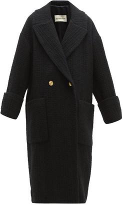 Alexandre Vauthier Double-breasted Wool-blend Tweed Coat - Black
