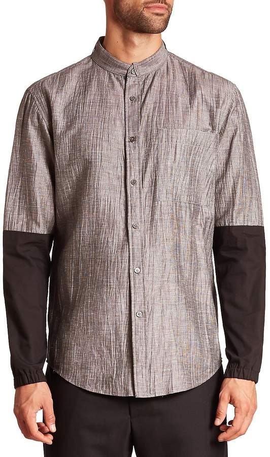 G Star Men's Two-Tone Button-Up Shirt