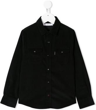 Givenchy Kids corduroy long sleeve shirt