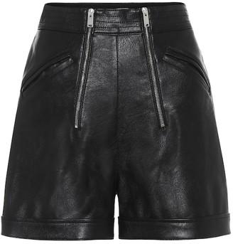 Stella McCartney Faux-leather high-rise shorts