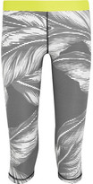 The Upside Valley Palms Cropped Printed Stretch-jersey Leggings - Ivory