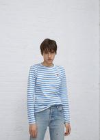 Comme des Garcons white & blue stripe tshirt