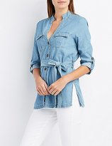 Charlotte Russe Chambray Tunic Top