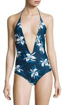 Mikoh Swimwear Hinano One-Piece Floral-Print Swimsuit